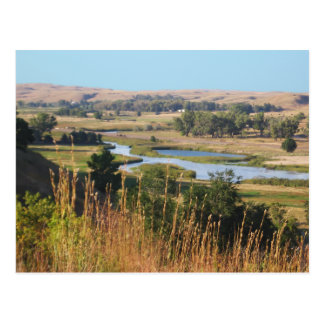 Nebraska-Landschaft Postkarte