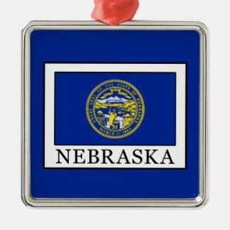Nebraska Silbernes Ornament