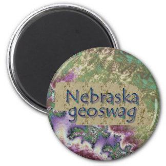 Nebraska-Staat Geocaching liefert Magneten Geoswag Runder Magnet 5,1 Cm
