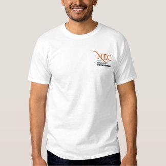 NEC gestickter weißer T - Shirt (Mann)