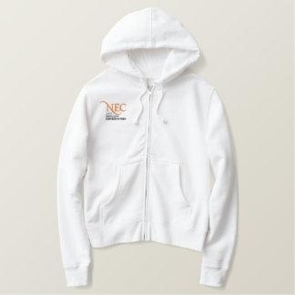 NEC gestickter ZipHoodie (weiblich) Bestickter Hoodie