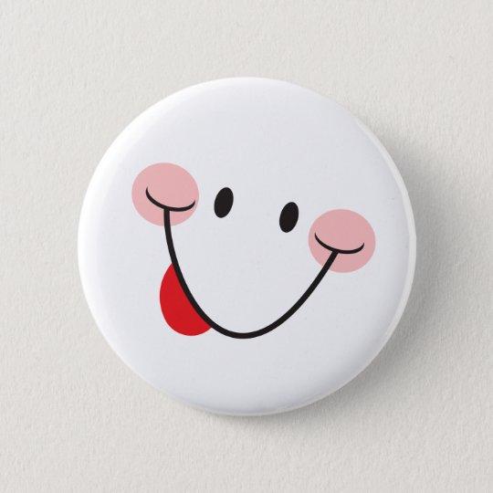 Neckenden Knopf der Zunge heraus haften Runder Button 5,7 Cm