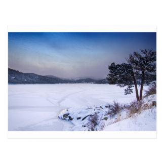 Nederland Colorado Marktschreier-Reservoir-Winter Postkarte