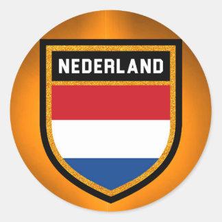 Nederland Flagge Runder Aufkleber