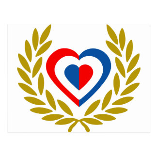 nederland-laurel-heart-2. postkarte
