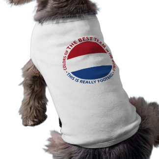 Nederland Netherlands Art Shield Ärmelfreies Hunde-Shirt
