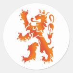 Nederland wereldkampioen le lion 2014 sticker rond