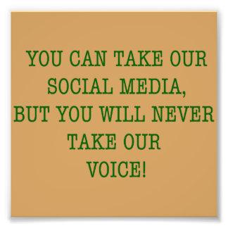 Neer nehmen unsere Stimme! Fotodruck