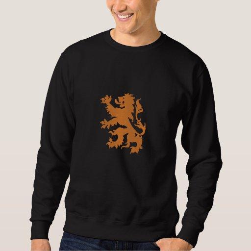 Néerlandais effréné néerlandais Oranje Hollande de Sweat-shirt Brodé