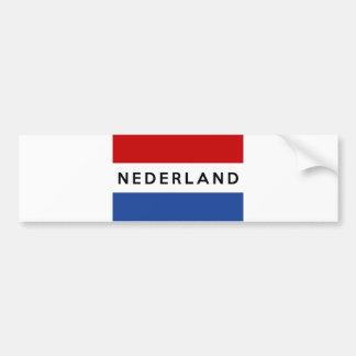 Néerlandais néerlandais de nom des textes de autocollant de voiture