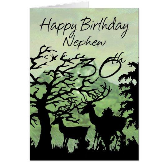 Neffe - 30. Geburtstags-Karten-Waldland Grußkarte