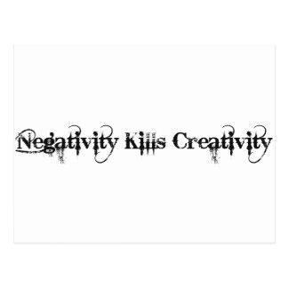 Negativität tötet Kreativität Postkarte
