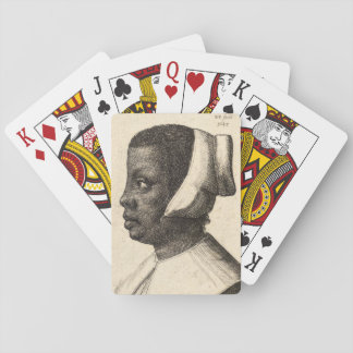 Negress durch Wenceslaus Hollar Spielkarten