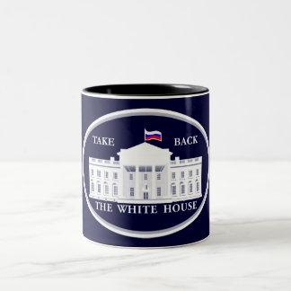 Nehmen Sie das Weiße Haus von Russland zurück Zweifarbige Tasse