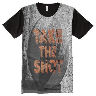 Nehmen Sie dem Schuss Vintagen Basketball T-Shirt Mit Komplett Bedruckbarer Vorderseite