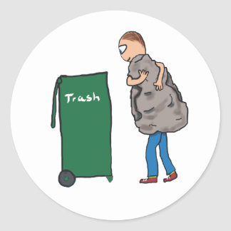 Nehmen Sie den Abfall heraus Runder Aufkleber