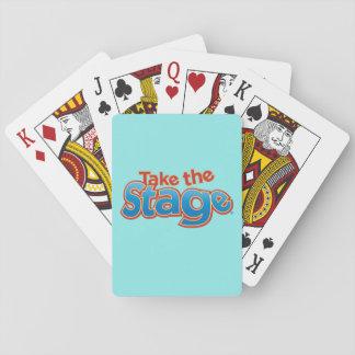 Nehmen Sie die Bühne-Spielkarten, Spielkarten