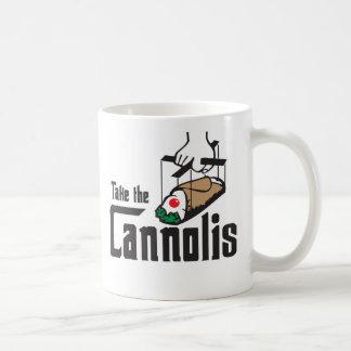 Nehmen Sie die Cannolis Tasse