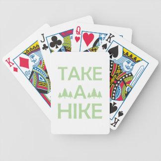 Nehmen Sie eine Wanderung Bicycle Spielkarten