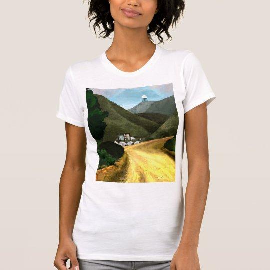 Nehmen Sie eine Wanderung. Damen-amerikanische T-Shirt