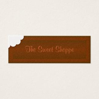 Nehmen Sie einen Biss der Schokolade Mini-Visitenkarten