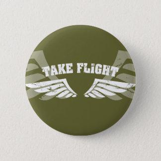 Nehmen Sie Flug-Luftfahrt-Flügel Runder Button 5,7 Cm