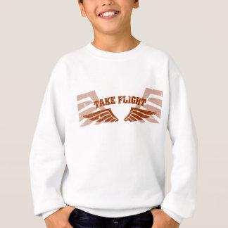 Nehmen Sie Flug-Luftfahrt-Flügel Sweatshirt