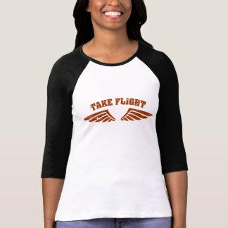 Nehmen Sie Flug-Luftfahrt-Flügel T-Shirt