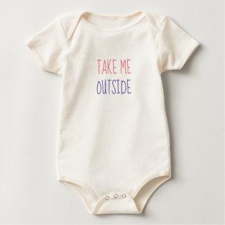 Nehmen Sie ihnen Außenseite Onsie Baby Strampler