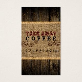 Nehmen Sie Kaffee-Durchschlag weg Visitenkarte
