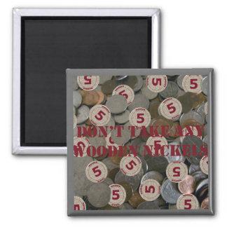 Nehmen Sie keinen hölzernen Nickel-Magneten Quadratischer Magnet