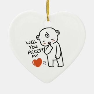 Nehmen Sie meine Liebe-Sammlung an Keramik Ornament