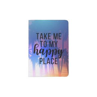 Nehmen Sie mich zu meinen glücklichen Platz Boho Passhülle