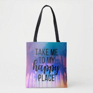 Nehmen Sie mich zu meinen glücklichen Platz Boho Tasche