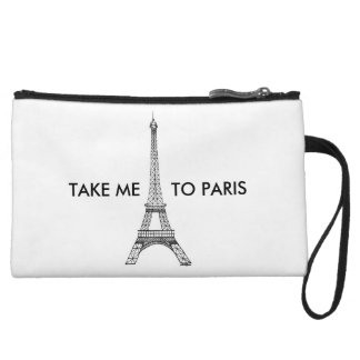 NEHMEN Sie MICH ZU PARIS-Kupplung Wristlet