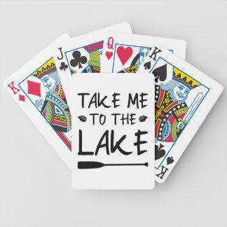 Nehmen Sie mich zum See Bicycle Spielkarten