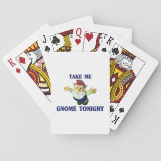 Nehmen Sie mir Gnome heute Abend Spielkarten