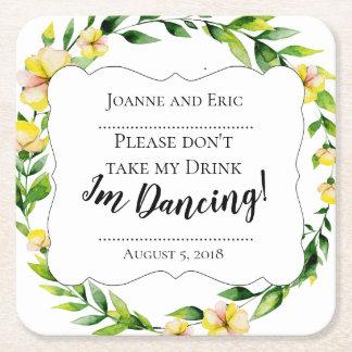Nehmen Sie nicht mein Getränk, ich tanzen Rechteckiger Pappuntersetzer