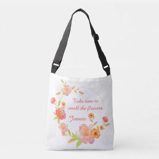 Nehmen Sie Zeit, die Blumen-Tasche zu riechen Tragetaschen Mit Langen Trägern