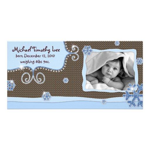 Neige d'étincelle de rose de carte photo de bébé d photocarte