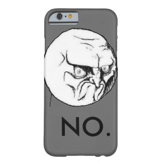 """""""NEIN"""" meme graues lustiges Barely There iPhone 6 Hülle"""