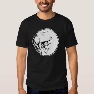 NEIN Raserei-Gesicht Tshirt