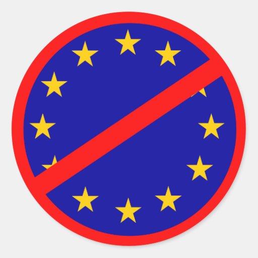 Nein zur EU Runde Sticker