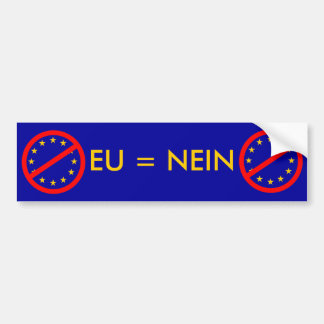 NEIN zur EU Autoaufkleber