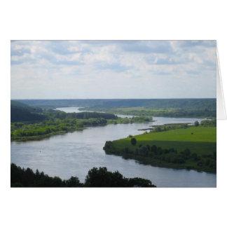 Nemunas Fluss bei Vilkija, LITAUEN Karte