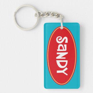 Nennen Sie Sandy Beidseitiger Rechteckiger Acryl Schlüsselanhänger