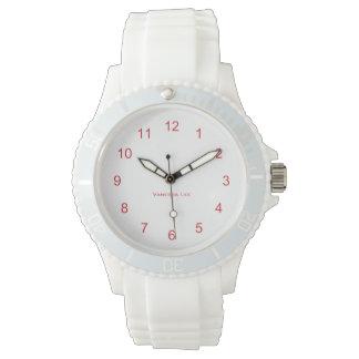 Nennen Sie sportliche weiße das Silikon-Uhr Ihrer Armbanduhr