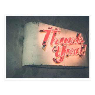 Neon dankt Ihnen Postkarte