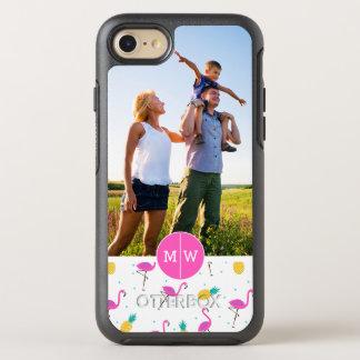 Neon Flamingos  addiert Ihr Foto u. Monogramm OtterBox Symmetry iPhone 8/7 Hülle