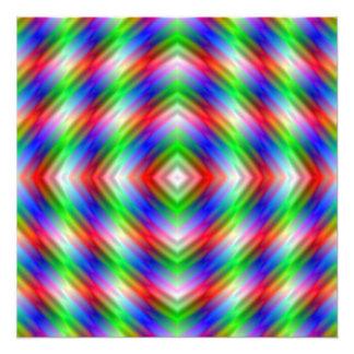 Neon-Streifen-Foto-Druck